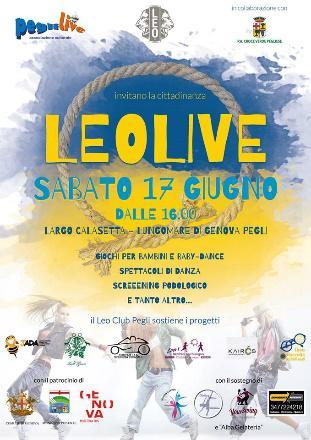 Leolive 17 giugno 2017, Largo Calasetta, Genova Pegli